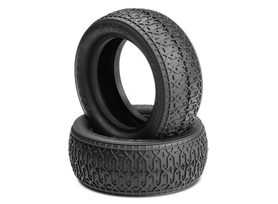JCONCEPTSダートウェブは、1/10 4WDバギーフロントタイヤ - ゴールド(屋内ソフト)化合物