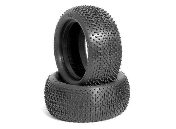 JCONCEPTSフリップアウト1/10 4WDバギーフロントタイヤ - グリーン(スーパーソフト)化合物