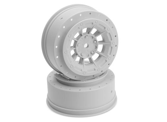 JCONCEPTSハザード -  SC10 / SC10 4x4のplus3mm  -  12ミリメートル六角ホイール - ホワイト