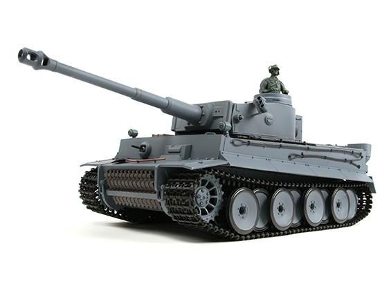 ドイツタイガーI RC戦車RTRワット/エアガン/スモーク&のTx(EUプラグ)