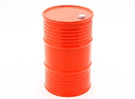 1/10スケール45ガロンオイルドラム - オレンジ