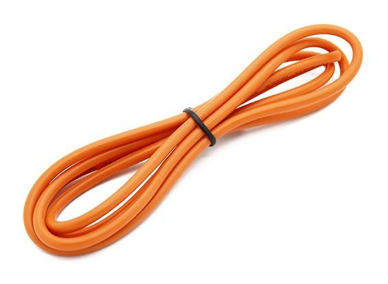 Turnigy高品質14AWGシリコンワイヤー1メートル(オレンジ)