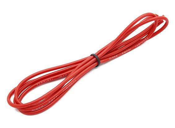 Turnigy高品質18AWGシリコンワイヤー1メートル(赤)