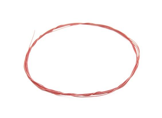 Turnigy高品質36AWGテフロンコーティングされたワイヤー1メートル(赤)