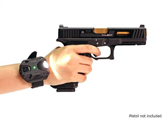 ナイト進化可変出力LED WristLight(ブラック)