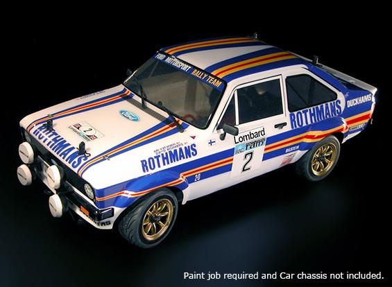 ラリーの伝説1/10フォードエスコートRS1800未塗装車ボディシェルデカール/ワット