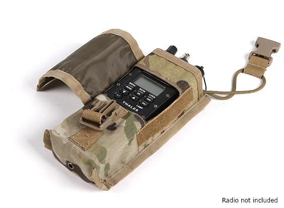 AN / PRC152のためのSWATモールラジオポーチ(マルチカム)