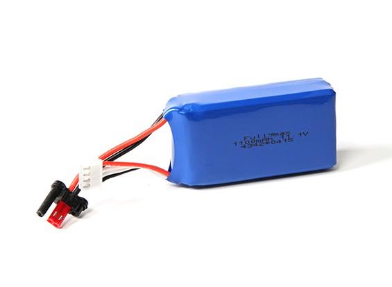 FX070C 2.4GHzの4CHフライバーレスRCヘリコプター用交換1100mAhの11.1V LiPolyバッテリー