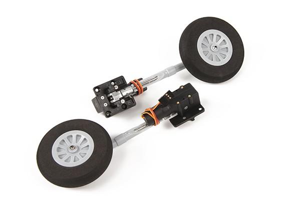 Durafly™カーチスP-40Nウォーホークのためのメタルトラニオン撤回セットを交換100°ツイストとターン