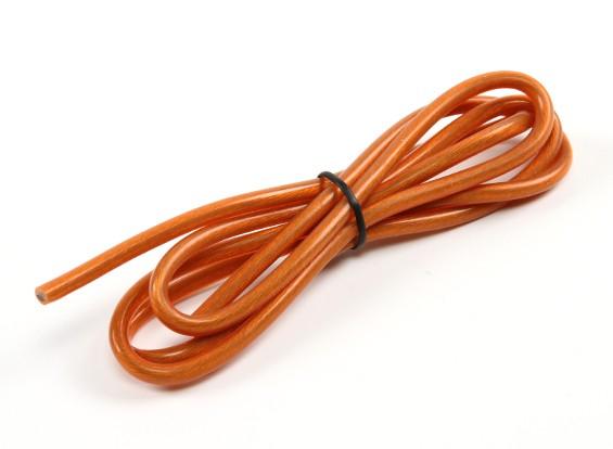 Turnigyピュアシリコーンワイヤー12AWG 1メートル(トランスルーセントオレンジ)