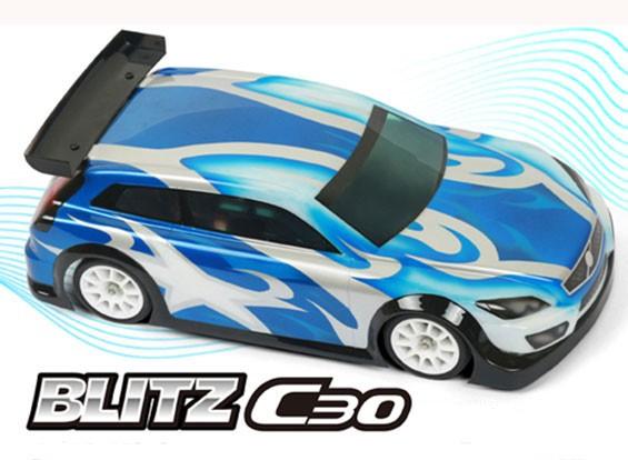 BLITZ C30 1/10ミニまたは1/12 EPハイルーフセダンボディシェル(210ミリメートル)(0.8ミリメートル)