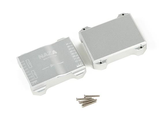 ナザフライトコントローラのCNCアルミ製保護ケース(シルバー)