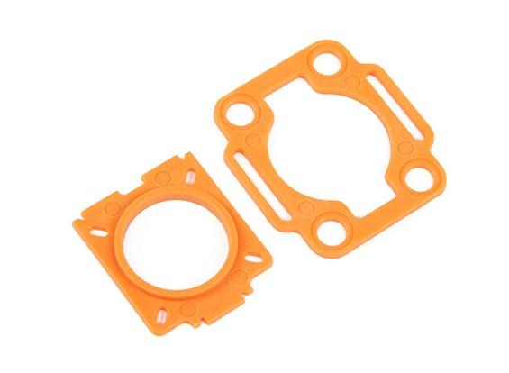 HobbyKing™カラー250メビウス/ COMS取り付けプレート(オレンジ)