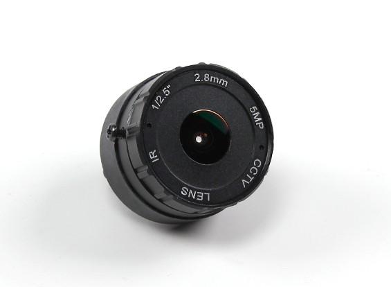 """2.8ミリメートルIRボードレンズF2.0 CCDサイズ1 / 2.5 """"マウント/ワット156°の角度"""