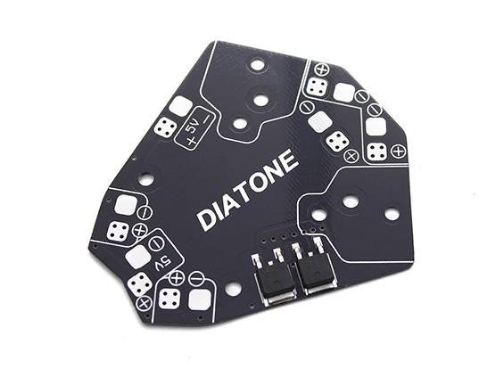 ダイヤトーンET 5V降圧と180分の150クラスのマイクロマルチコプター配電基板