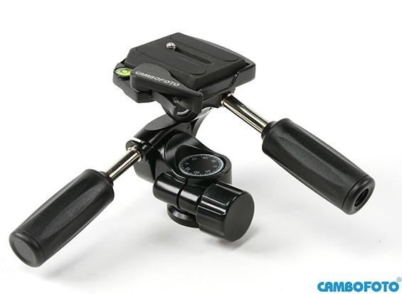 カメラトライポッド用Cambofoto HD36 3ウェイパンヘッドシステム