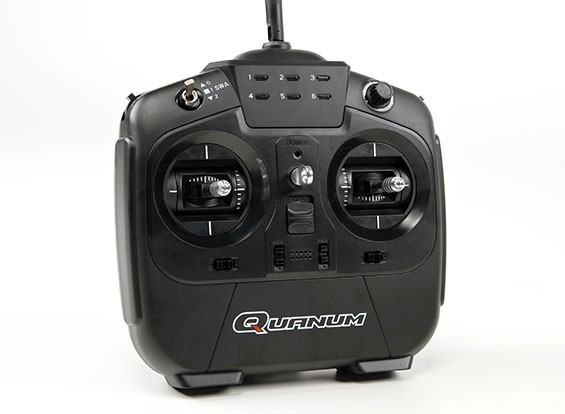 Quanum i8で8点の2.4GHZ AFHDS 2Aデジタルプロポーショナルラジオシステムモード1(ブラック)