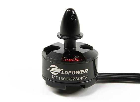 LDPOWER MT1806-2280KVブラシレスMulticopterモーター(CCW)