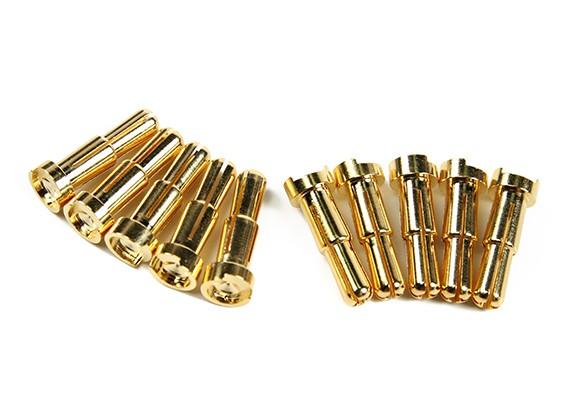 4〜5ミリメートルユニバーサル男性ゴールドメッキスプリングコネクタ - ロープロファイル(10個入り)