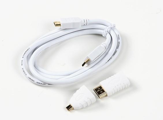 ミニケーブルにFatshark FSV2012 HDMIミニ