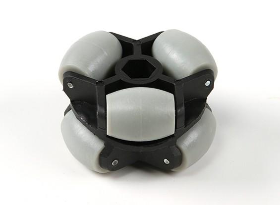 WH-01全方向ダブルロボットホイール60ミリメートル/ 25キロ六角フィッティング