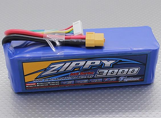 ジッピーFlightmax 3000mAhの6S1P 20C