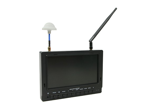 7インチ800×480 40CHダイバーシティ受信日読み取り可能なFPVモニターFieldviewの777SB(AU倉庫)