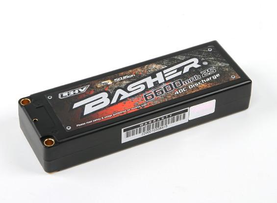 バッシャー6600mAhの2S2P 40CハードケースLiHVパック