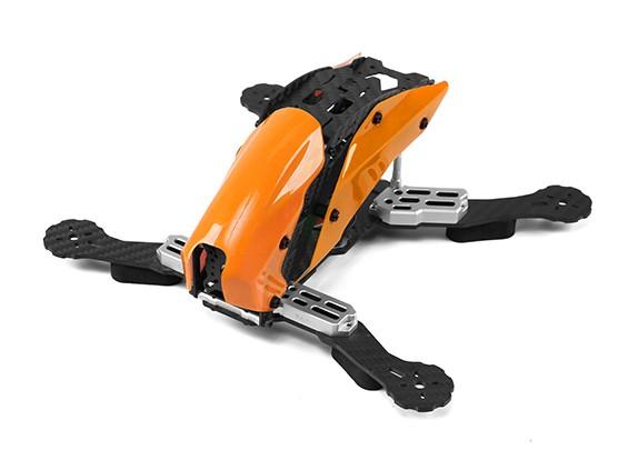 マシンFPVフルカーボンファイバー(オレンジ)を通じてタロットTL250Cスペースフレームのみ