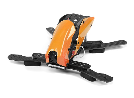 マシンFPVハーフカーボンファイバー(オレンジ)を通じてタロットTL250Hスペースフレームのみ