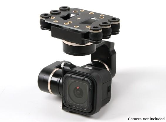 Quanum年度ミニ3D PROS 3軸ジンバル - 互換性のGoPro Hero4セッション