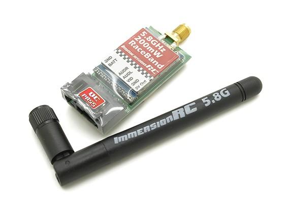 ImmersionRCレースバンドは200mW 5.8GHz帯のA / Vトランスミッター