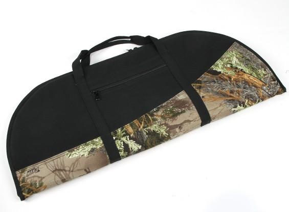 パッド入りの後ろに反らす弓袋 - ウッドランドカモ/ブラック