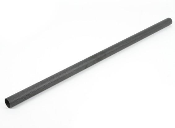 カーボンファイバーラウンドチューブ1000x40x37mm