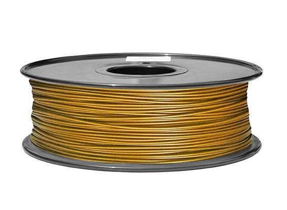 HobbyKing 3Dプリンタフィラメント1.75ミリメートルPLA 1KGスプール(メタリックゴールド)