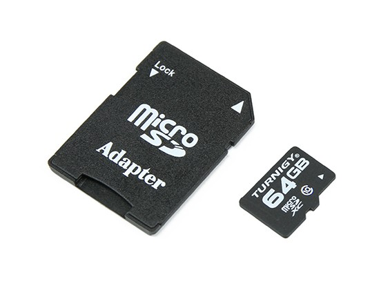Turnigy 64ギガバイトクラス10マイクロSDメモリーカード(1個)