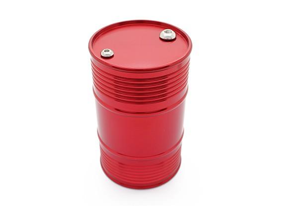 1/10クローラ/トラック/ピックアップのためのレッドアルマイトCNCメタルアルマイト燃料ドラム