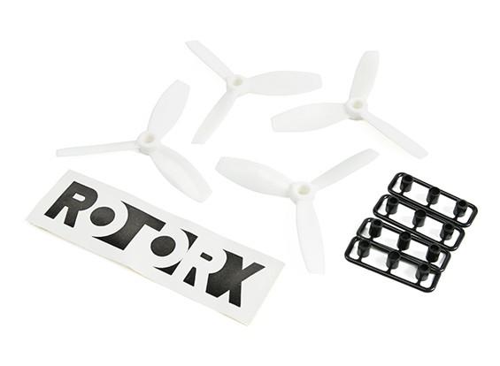 RotorXブルノーズ3-ブレードプラスチック製プロペラRX3040Tホワイト(CW 2個入り)(CCWの2個)