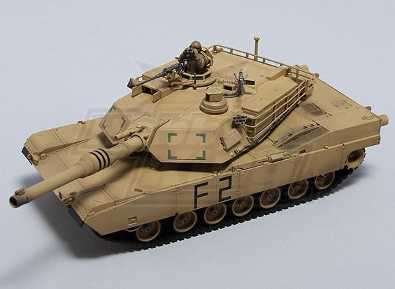 M1A2エイブラムスRC戦車RTRワット/ TX /サウンド/赤外線(砂漠)