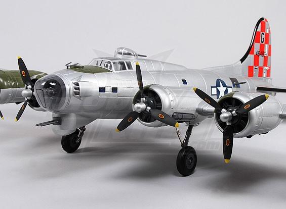 B-17フライングフォートレス(シルバー)スーパーディテール1600ミリメートル(PNF)