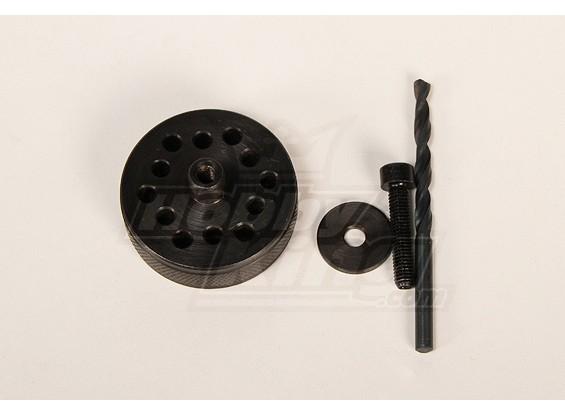 DA100&150 \ DLE111 \ 3W50-170 \ TMM53-106用プロップ&バックプレートドリル治具