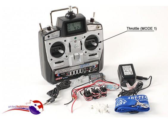 E-フライ6CHフライトシステムワット/ ESC(モード1の72mhz)