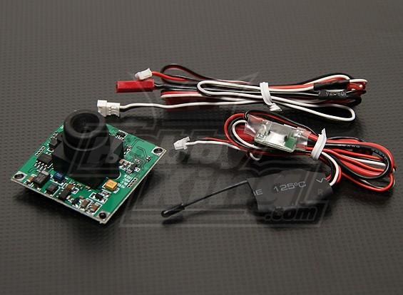 FPVトランスミッタ&1/3インチCCDカメラPAL(520TVL)