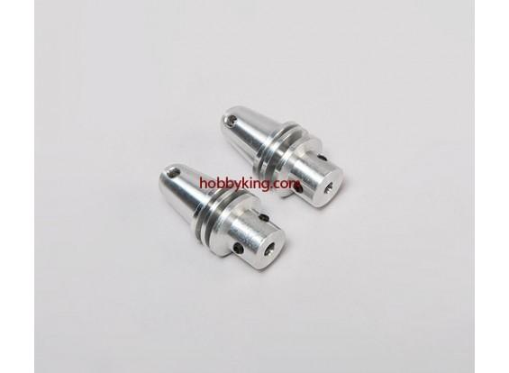 プロップアダプターアルミコーン/ワット1 / 4x28-3.2mmシャフト(クラブスクリュータイプ)