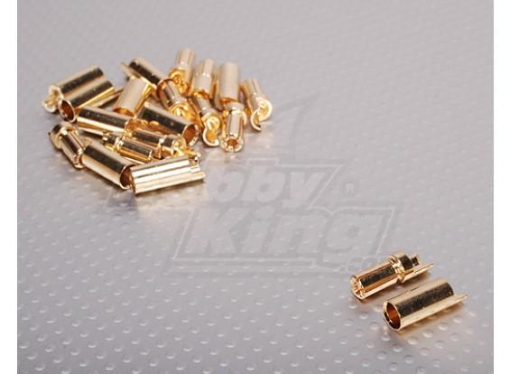 PolyMAXの5.5ミリメートルゴールドコネクタ(10ペア/セット)