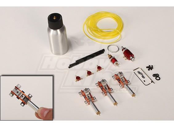 マイクロ空気圧リトラクトランディング・ギアセット