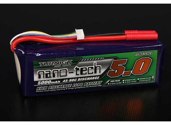 Turnigyナノテクノロジー5000mAに6S 45〜90Cリポパック