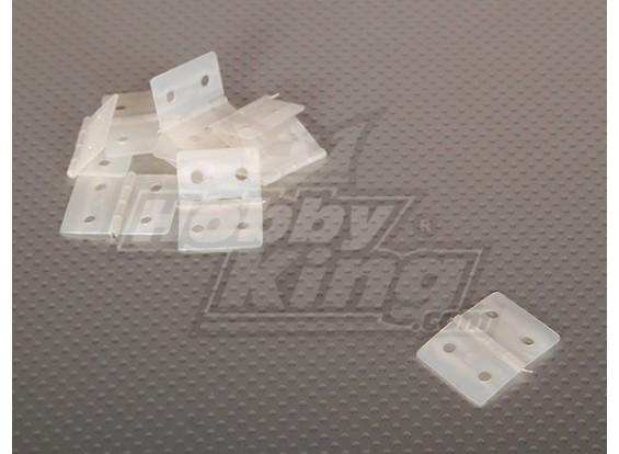 ナイロン&釘付けヒンジ26.5x36(10個入り/袋)