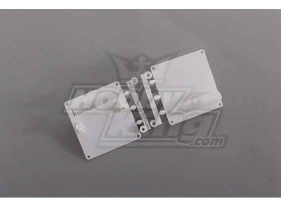 サーボマウント/プロテクターホワイト(1セット/袋)64ミリメートルX 67ミリメートル