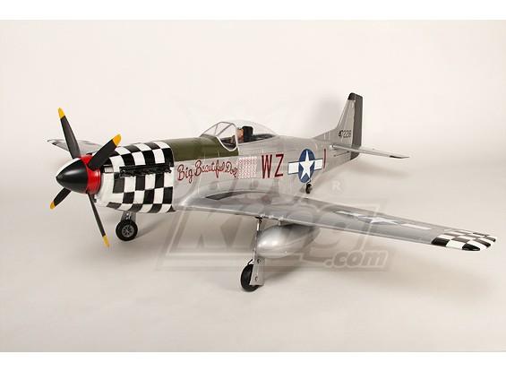 P-51Dモンスターマスタング1.55メートル6CH XL-EPO-61inch PNF